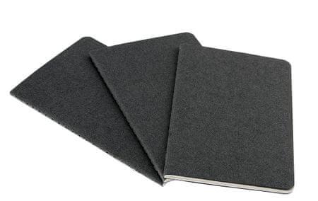 Moleskine beležka žepna, brezčrtna, mehke platnice, siva - 3 kosi
