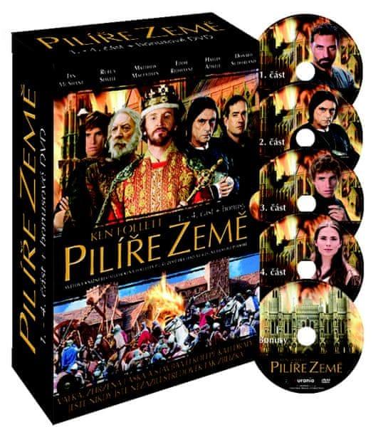 Pilíře Země: Kolekce (4DVD) - Pilíře Země 1-4 - DVD