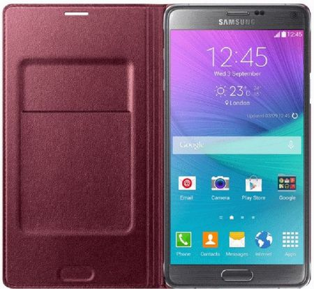 Samsung etui flip wallet do Galaxy Note 4, śliwkowy EF-WN910BREGWW