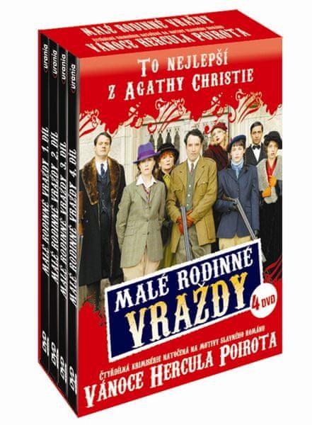 Agatha Christie: Malé rodinné vraždy (4DVD) - DVD
