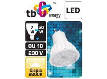 TB Energy Żarówka LED GU10 230V 7W x 3 BLISTER biała ciepła TB Economic