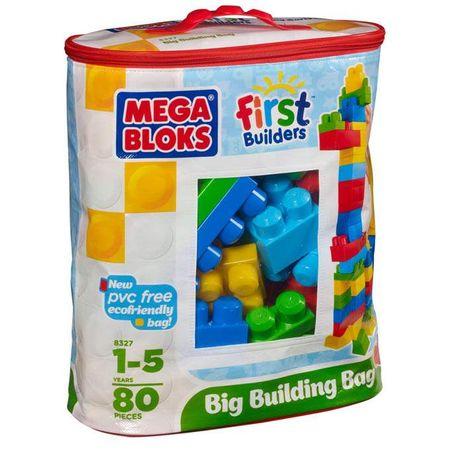MEGA BLOKS First Builders Duża ECO torba z klockami 80 szt. 8327
