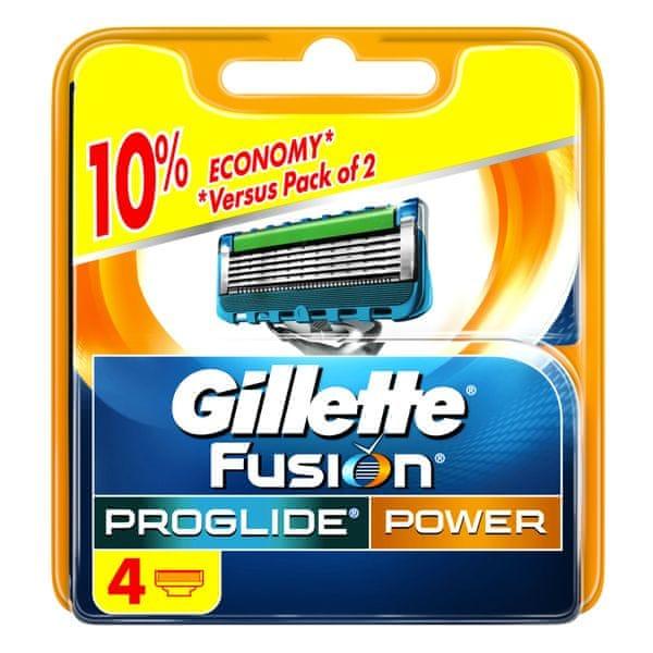 Gillette Fusion ProGlide Power - náhradní hlavice 4 ks