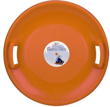 Nijdam krožnik za sankanje Snow Disc, oranžen