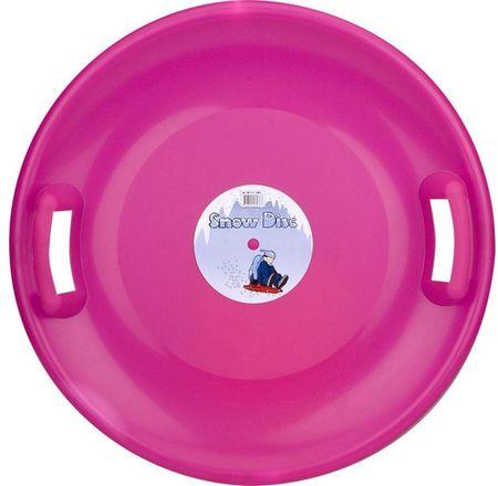 Nijdam krožnik za sankanje Snow Disc, roza