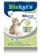 Gimpet żwirek dla kota BIOKAT'S Micro White Fresh 14l