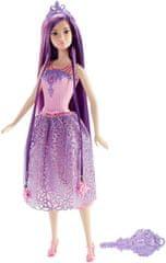 Barbie Dlhovláska fialová