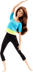 Mattel Barbie V pohybu fitness bruneta
