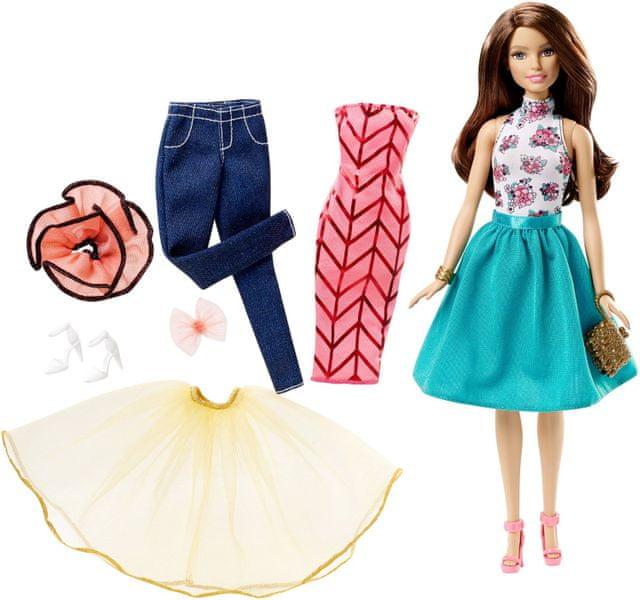 Barbie Modelka a šaty bruneta