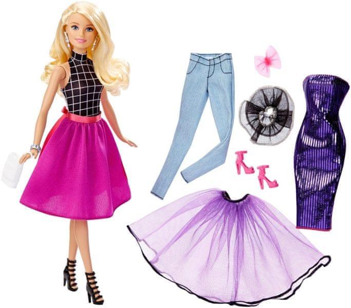 Barbie Modelka a šaty blond