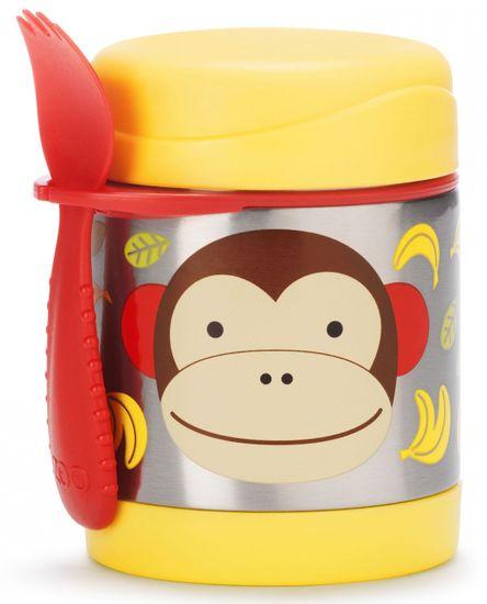 Skip hop Zoo Termoska na jedlo s vidličkou - Opička
