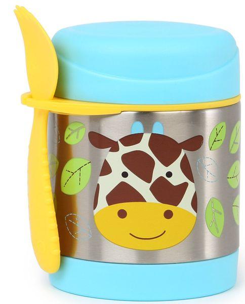 Skip hop Zoo Termoska na jídlo s vidličkou - Žirafa