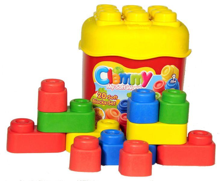 Clementoni 20 barevných kostek v kyblíku, základní barvy