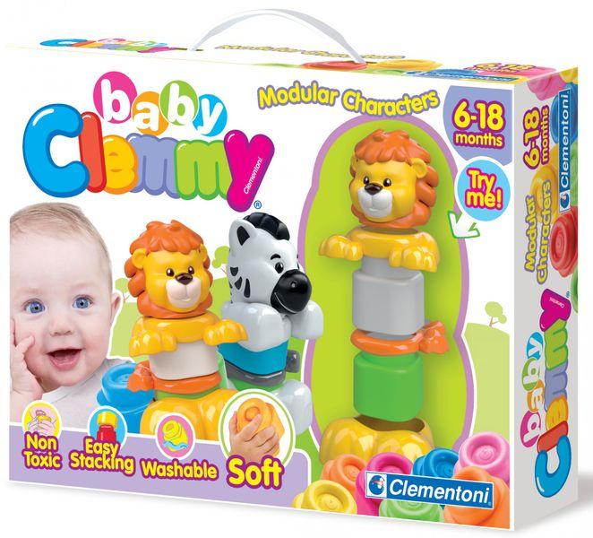 Clementoni Baby Zebra a lev, skládací zvířátka