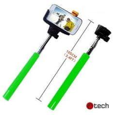 C-Tech selfie držiak C-TECH MP107G pre mobil, zelený