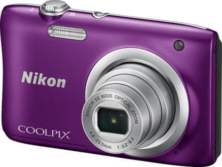 NIKON Coolpix A100 Digitális Fényképez, Lila