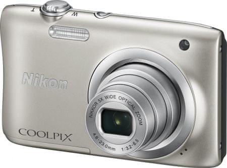 NIKON Coolpix A100 Digitális Fényképező, Ezüst