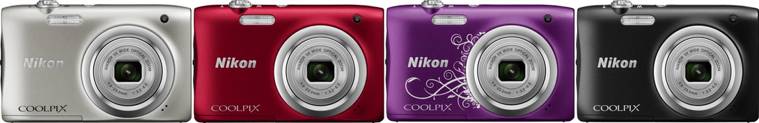 Nikon Coolpix A100 colours