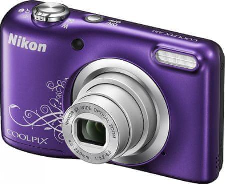 NIKON Coolpix A10 Digitális fényképezőgép, Lineart Lila