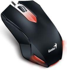 Genius X-G200 (31040034102) Optikai gamer egér, Fekete