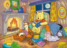 Clementoni Puzzle Medvedík Pú - večerná rozprávka