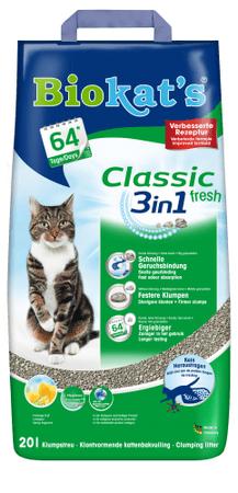 Gimpet pijesak za mačke Biokat's Classic fresh 3v1, 20 l