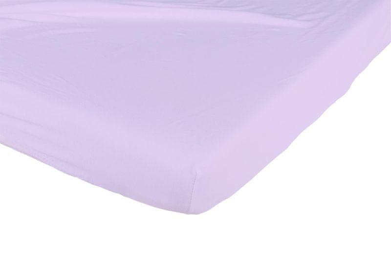 Candide Bavlněné prostěradlo 130g/m² 70x140 cm fialové