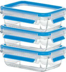 Emsa Clip&Close Ételtároló üvegedény szett, 3 db (0,5 l)