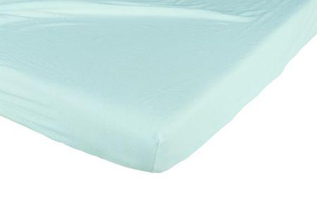 Candide Bavlněné prostěradlo 130g/m² 60x120 cm tyrkysové / bílé