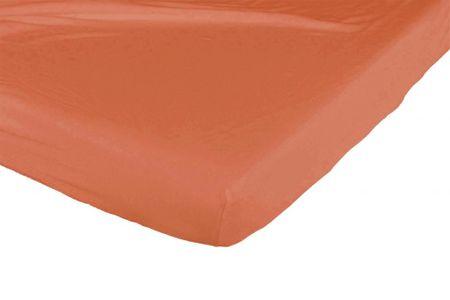 Candide Bavlněné prostěradlo 130g/m² 60x120 cm oranžová /bílé