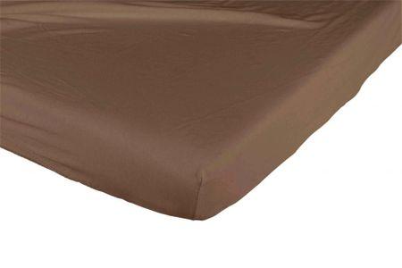 Candide Bavlněné prostěradlo 130g/m² 60x120 cm čokoládové /bílé