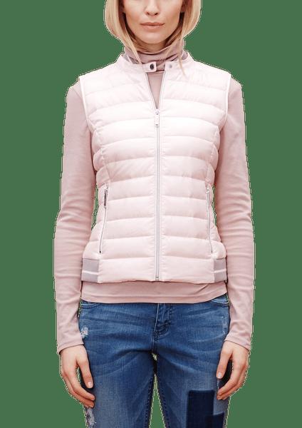 s.Oliver dámská vesta s kapsami 36 růžová