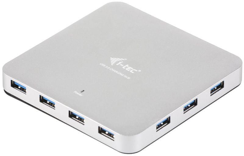 I-TEC USB 3.0 Metal HUB 10 Port s napaječem