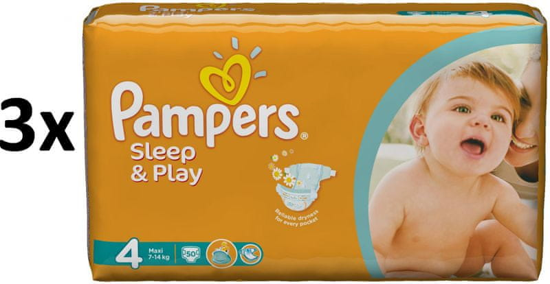 Pampers Pampers Pleny Sleep&Play 4 Maxi - 150 ks