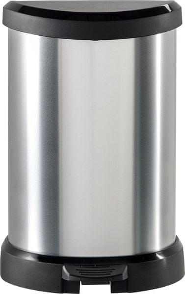 Curver Odpadkový koš Curver Decobin 20l pedál – stříbrný