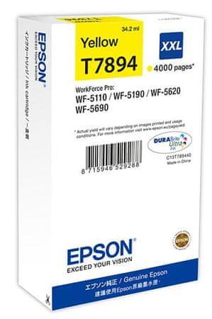 Epson kartuša C13T789440 XXL, rumena