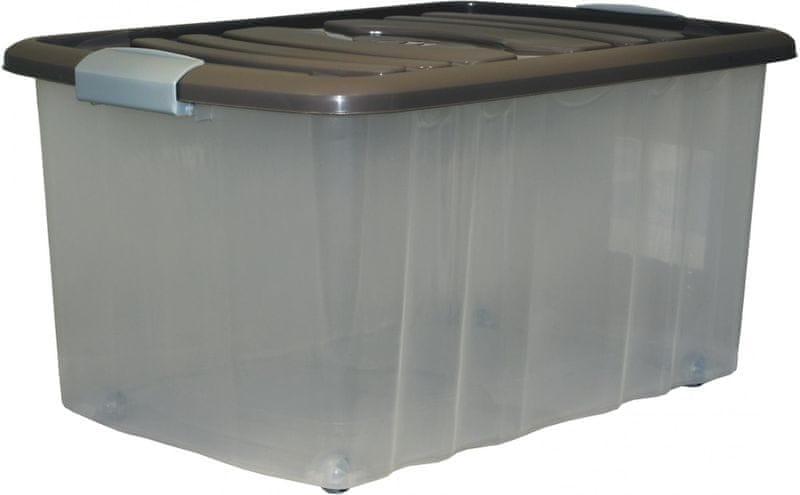 Mazzei Úložný box na kolečkách ROLL - 45 litrů hnědý