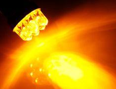 M-Tech LED sijalka BA15S PY21W, oranžna, 2 kosa