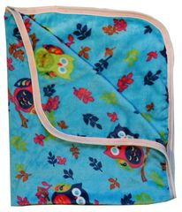 COSING Univerzální deka 80x100 cm - sovičky, Modrá