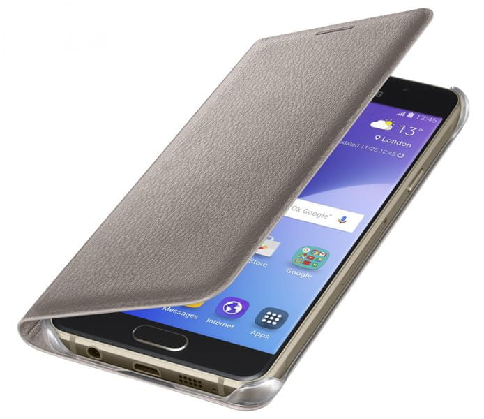 Samsung flipové pouzdro Galaxy A3 (A310), zlatý
