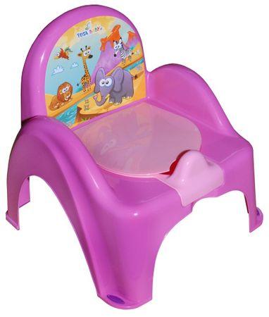 COSING Nocnik-krzesełko grający, różowy