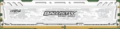 Crucial pomnilnik (RAM) DDR4 16GB 1.2V Ballistix Sport LT White