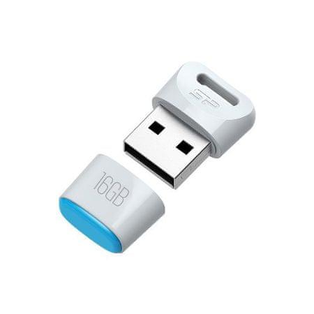Silicon Power USB ključek T06 16 GB COB, bel