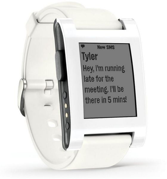 Pebble Chytré hodinky Classic, bílé