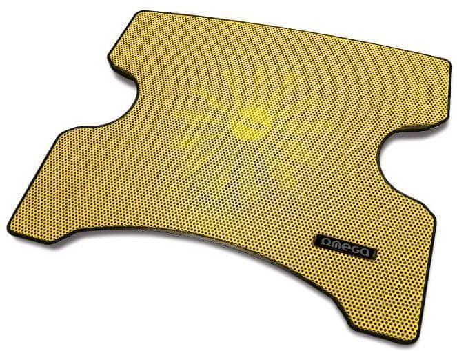 Omega Laptop Cooler PAD (FRIDGE), 16cm větrák, 2x USB port, žlutý