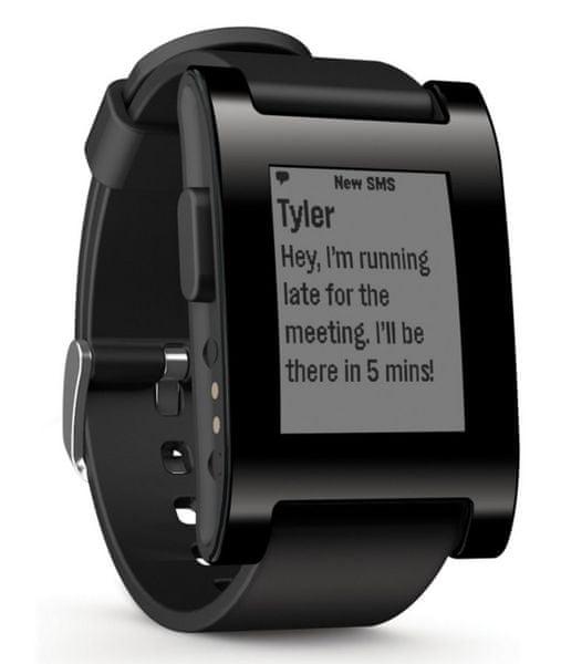 Pebble Chytré hodinky Classic, černé