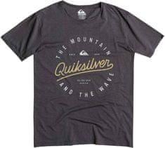 Quiksilver majica Slub Scriptville, moška, temno siva
