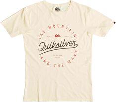 Quiksilver majica Slub Scriptville, moška, krem