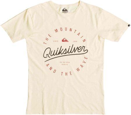 Quiksilver majica Slub Scriptville, moška, krem, S