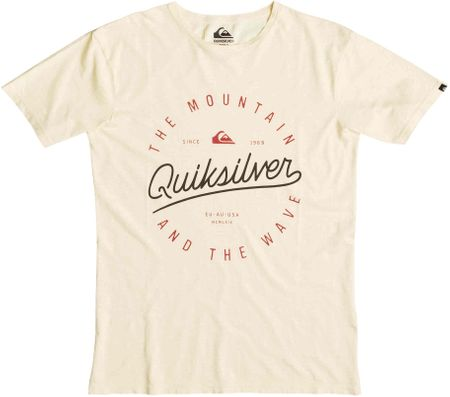 Quiksilver majica Slub Scriptville, moška, krem, XXL